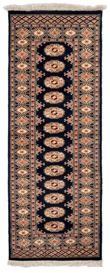"Handmade Bokhara Pakistan Area Rug | Size: 189 x 69 cm / 6'2"" x 2'3"" 