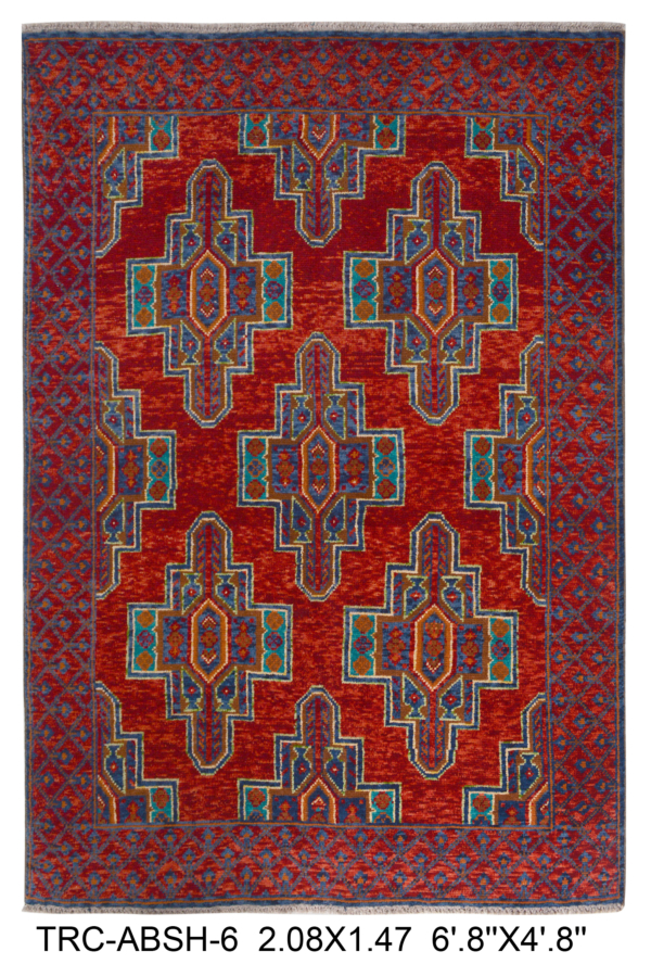 Abshar Area Rug | Size: 208 x 147 cm | Colour: Red, Maroon