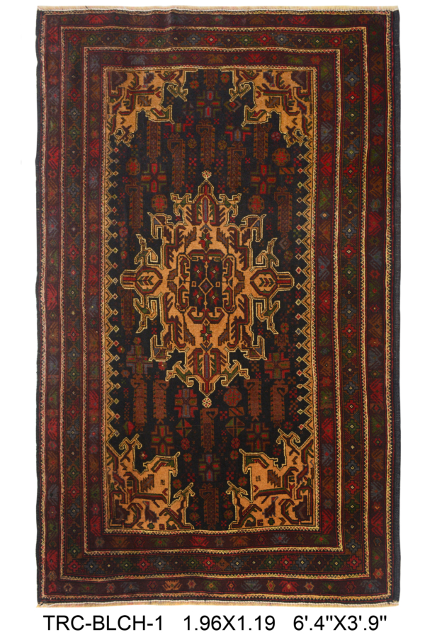 Belouch Area Rug | Size: 196 x 119 cm | Colour: Brown
